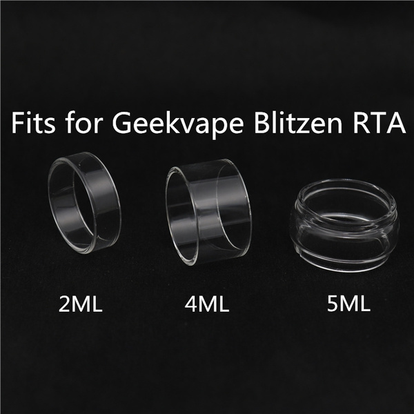Wish 5pcs Replacement Glass Tankglass Tube For Blitzen Rta 24 2ml