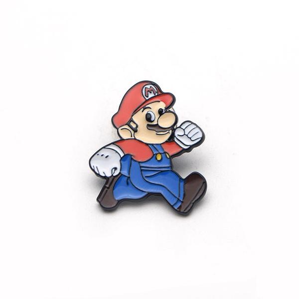 Wish L154 Enamel Pin Cute Mario Bros Brooch Large Vase Pins And