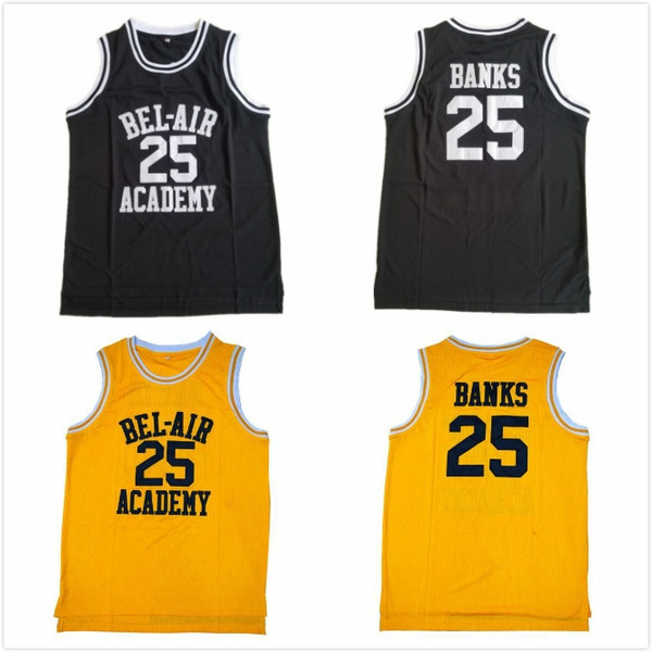 more photos 5ffc8 51c87 #25 Banks Will Smith Jerseys Bel Air Academy The Fresh Prince of Basketball  Jerseys