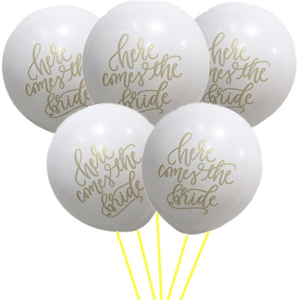 Wish 10pcs Mr Mrs Balloon Just Married She Said Yes Balloons Wedding Party Bachelorette Bridal Shower Decoration