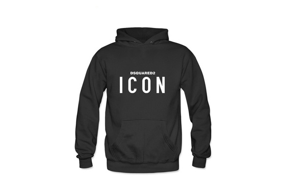 Letter long sleeve jacket coat Men Hoodie 100% Cotton Embroidered (ICON) Logo