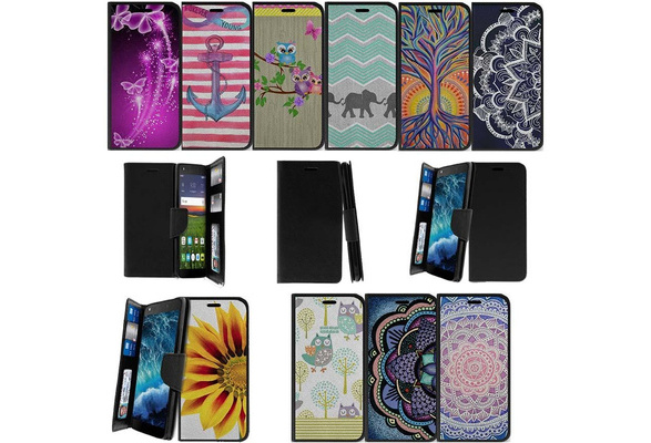 Alcatel Raven A574BL | Alcatel Verso | Alcatel idealXCITE | Alcatel Fiji |  Alcatel CameoX Wallet Case with Slots - Unique Designs