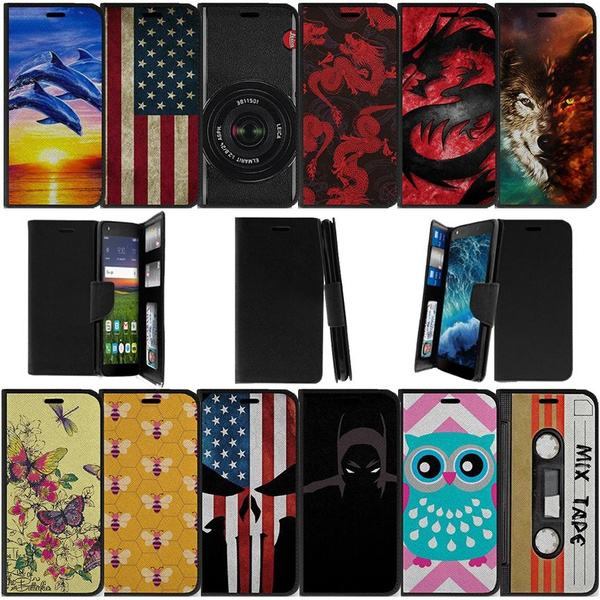 Alcatel Raven A574BL | Alcatel Verso | Alcatel idealXCITE | Alcatel Fiji |  Alcatel CameoX Wallet Case with Slots