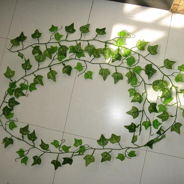 GRAPE Vine Artifical GARLAND GREEN Ivy Plastic Leaf Fake Foliage Plant Flower