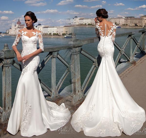 Sexy Mermaid Wedding Dress White/Ivory