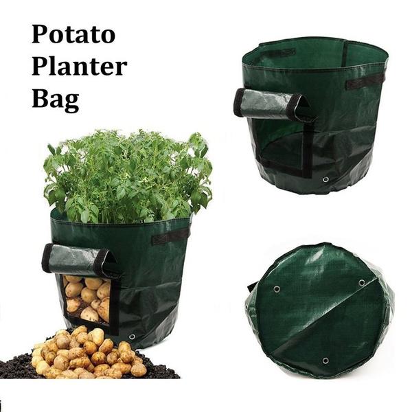 1pc 34 35cm 35 45cm Waterproof Potato Planter Bags Planting Garden Pots Convenient Green Bag Vegetable Plant Grow Farm Home