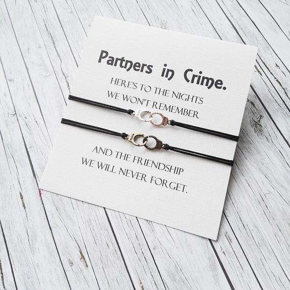 fecac60bc Couples Bracelets, Friendship Bracelet, Partner In Crime Jewellery ...