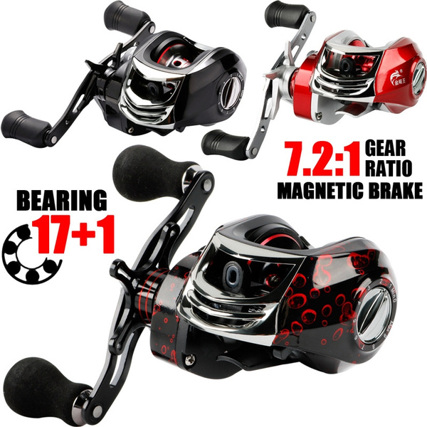 Sougayilang Baitcasting Fishing Reel -17+1 Bearings 7 2:1 Gear Ratio -  Magnetic Tuned Dual Brakes -Light Weight Ultra Smooth Powerful