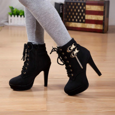 Womens Shoes, Lace, for, Boots