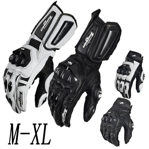 Carbon Fiber Motorcycle Gloves Leather Glove Men Cycling Racing Moto Motorbike