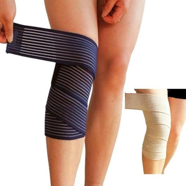 150 7 5cm Elastic Bandage Tape Sport Knee Support Strap Knee Pads