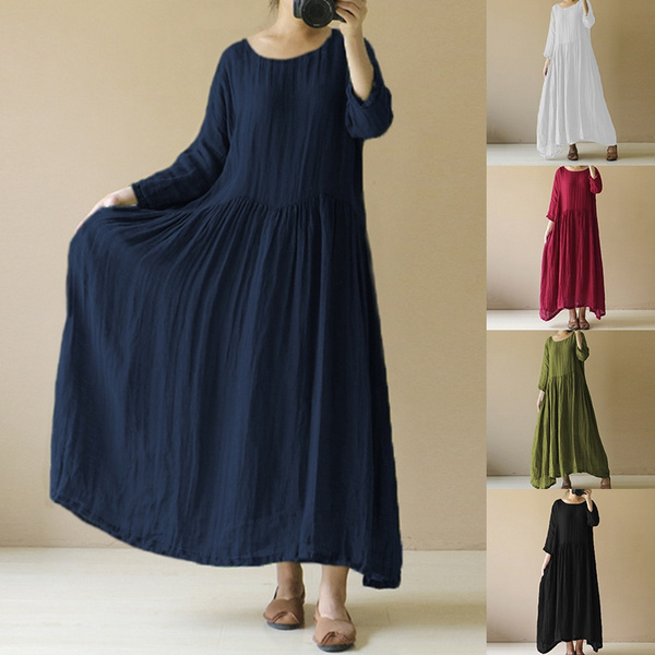 Vintage, womens dresses, Cotton, long sleeve dress