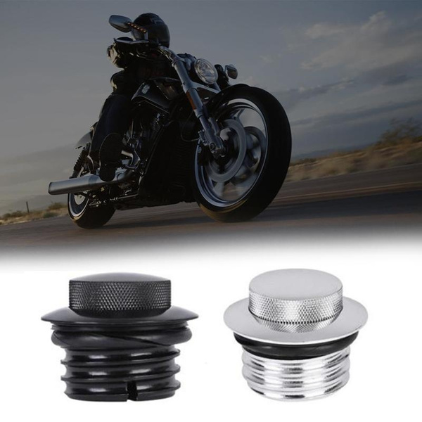 Motorcycle Pop Up Flush Gas Cap Oil Caps Vented Fuel Tank Cover
