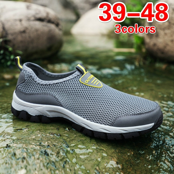 0e600847d67c Men s Summer Water Sport Sneakers Athletic Quick Drying Mesh Slip On Hiking  Shoes Outdoor