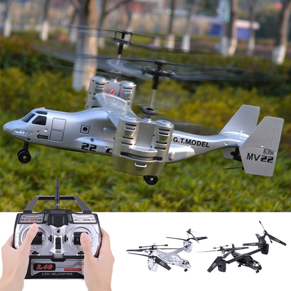 Osprey Transport Aircraft 4 5 CH 2 4G RC Helicopter Double Engine Remote  Control Military Propeller Plane Toys Gyros Quadcopter Outdoor Remote  Control