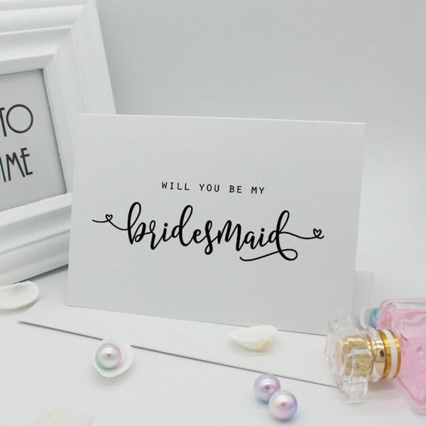 Will You Be My Bridesmaid Card Bridesmaid Proposal