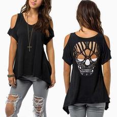 blouse, off shoulder top, Plus Size, Cotton Shirt