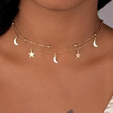 starchoker, twolayernecklace, moonchoker, Star