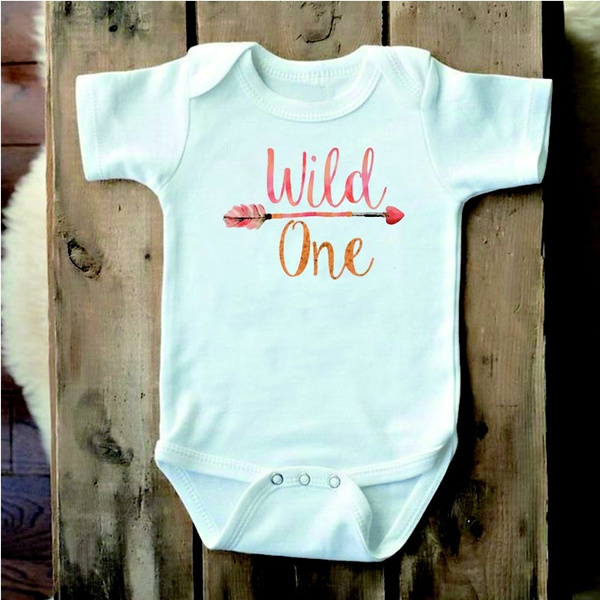 d49a612fb Wild One Onesie Baby Girl Clothes Baby Shower Gift Boho Baby Clothes Cute  Baby Clothes Cute Baby Onesies First Birthday Girl Outfit | Wish