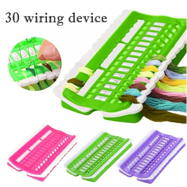 30 Positions Floss Organizer Cross Stitch Kit Thread Project Tool Sewing Holder