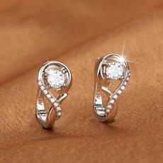 Sterling, Stud, Hoop Earring, Jewelry