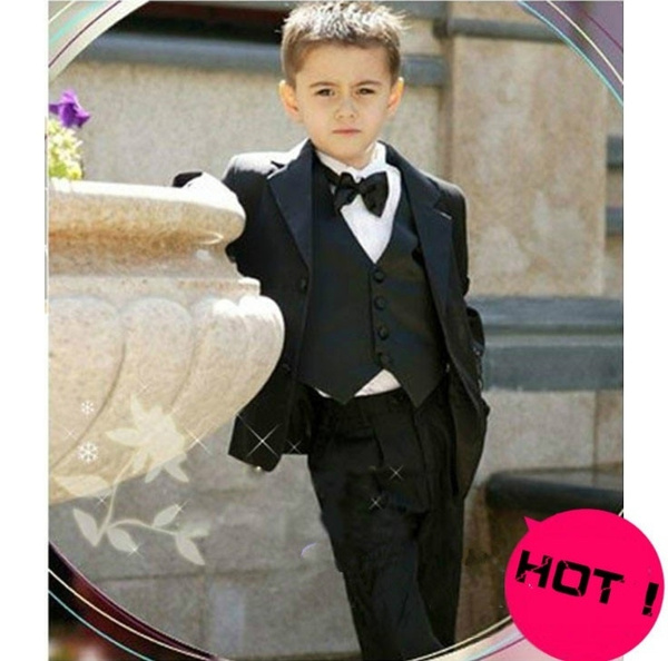 Wish | Fashion Boys Suits for Weddings Clothes Tuxedo Kids Notch ...