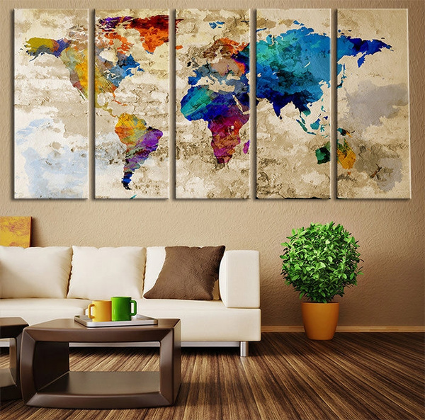 5D Diamond Painting Colorful World Embroidery Cross Stitch Kits Art Home Decor