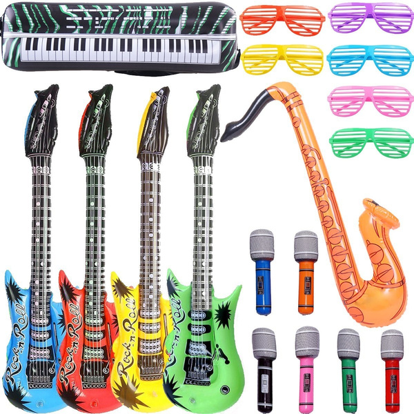 18pcs Rock /& Roll Party Photo Booth Props Jazz Punk Music Band Photography Decor