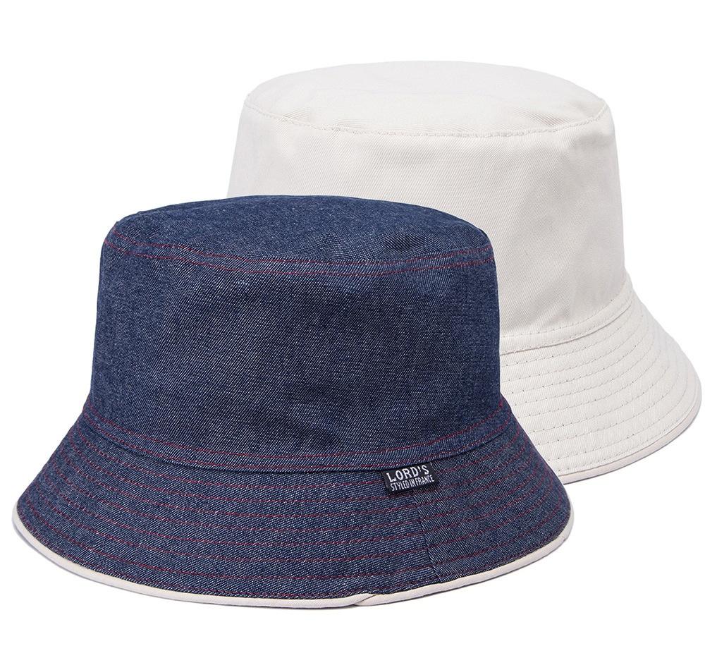 2019 2018 Plain Solid Bucket Hats Men Reversible Two Sides Can Wear ... b505649eaac