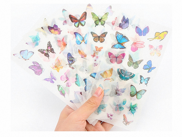 butterfly, cute, colorbutterfly, Stickers