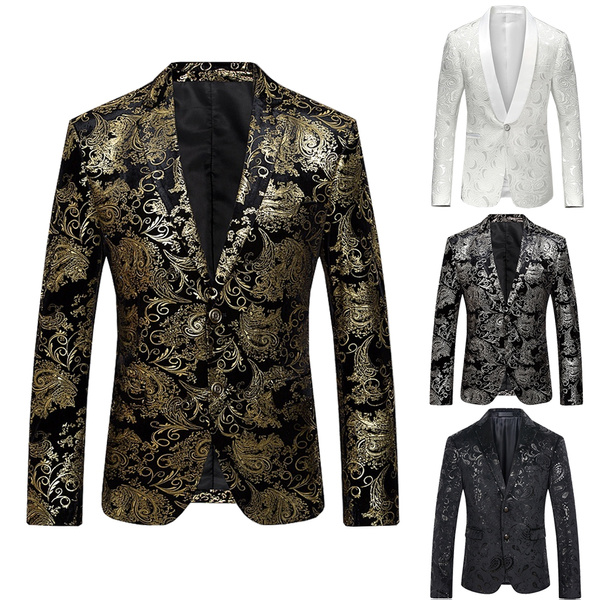 blazerjacket, golden, SuitMen, mensblazer