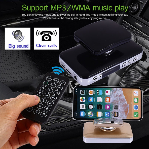 Bluetooth Wireless Car Hands Free Multipoint Speakerphone Speaker Kit Easy Link Mobile Phone Calls With Phone Stand Wish