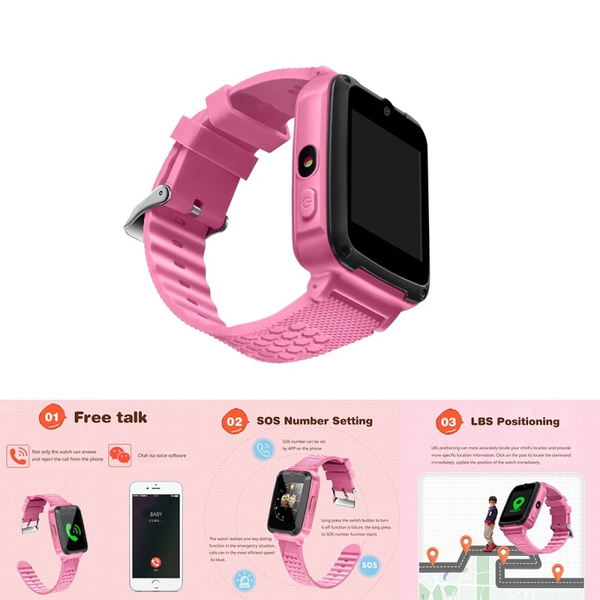 Gps Android LBS Smart Sos Alarm Blue Pink Phone Birthday Gifts Watch Electronics For Kids