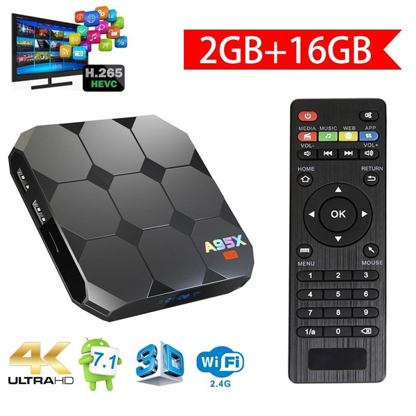 Android TV Box A95X R2 Android 7 1 Quad Core WiFi 4K IPTV Media Player