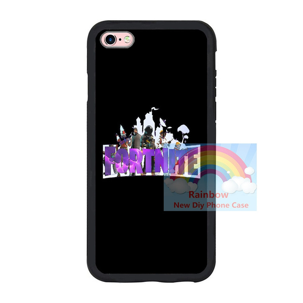 buy popular fa8f6 c1146 Designs Fortnite Iphone 6 6plus 7 7plus TPU Case, Fortnite Battle Royale  Samsung S7 S8 Cover Black Soft Durable TPU Phone Case