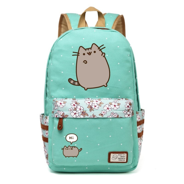 4343df6234 Pusheen cat backpack School rucksack fashion Pusheen Canvas Backpack ...