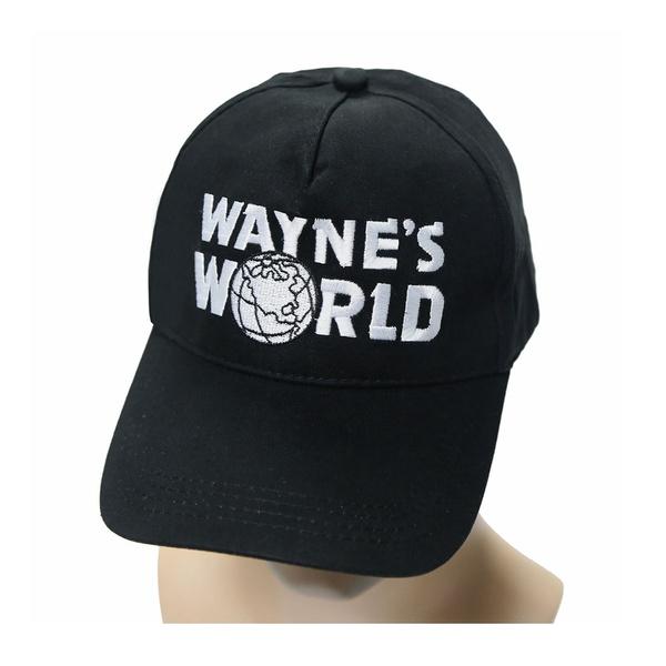 63b09f22 Black Wayne's World Hat Costume Waynes World Unisex Earth Hats ...