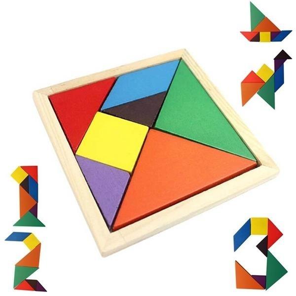 tangram, Children's Toys, woodenjigsawpuzzle, Jigsaw