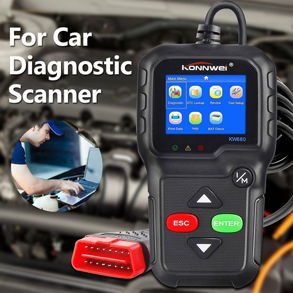 OBD2 Car Code Reader, Check Engine Light Diagnostic Tool KONNWEI KW680  OBDII OBD2 Code Scan tools Read/Clear Engine Fault Codes Scanner