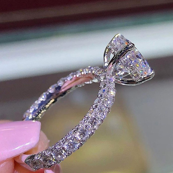 Sterling, DIAMOND, 925 silver rings, gold