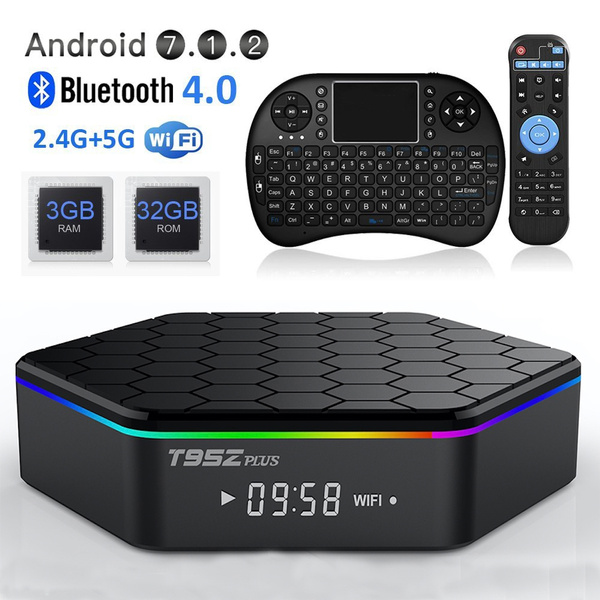 Android tv box T95Z Plus Android 7 1 Smart TV Box Amlogic S912  Octa-Core,Dual-Band Wi-Fi 2 4/5 8G Smart Boxes Android Mini PC with  Wireless Keyboard