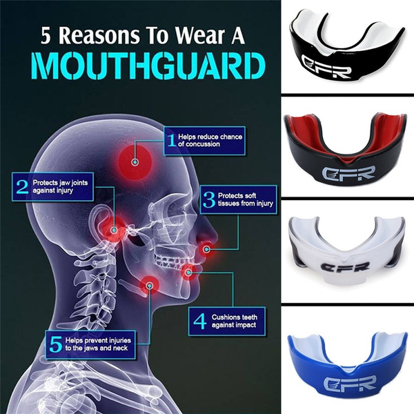 Sport Mouthguard Adult Mouth Guard Case MMA Teeth Protection Protective Gear