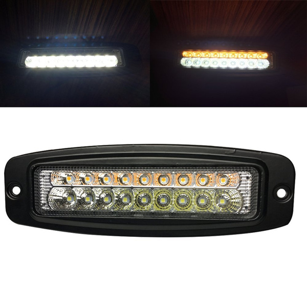 Bestsxma Led6401 Flush Mount Led Lights 1pcs 7 5 18w Spot Led Work Light Bar Off Road Led Lights Flush Mount Driving Lights Reverse Turn Signal Amber
