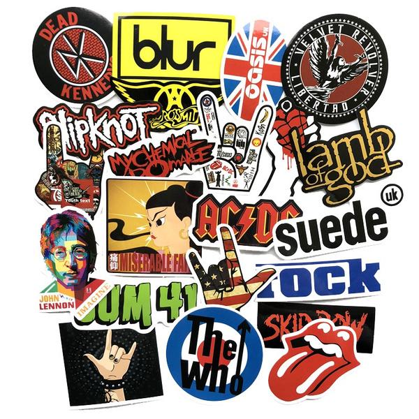 Oasis Rock Music Bumper Sticker 15 x 8 cm