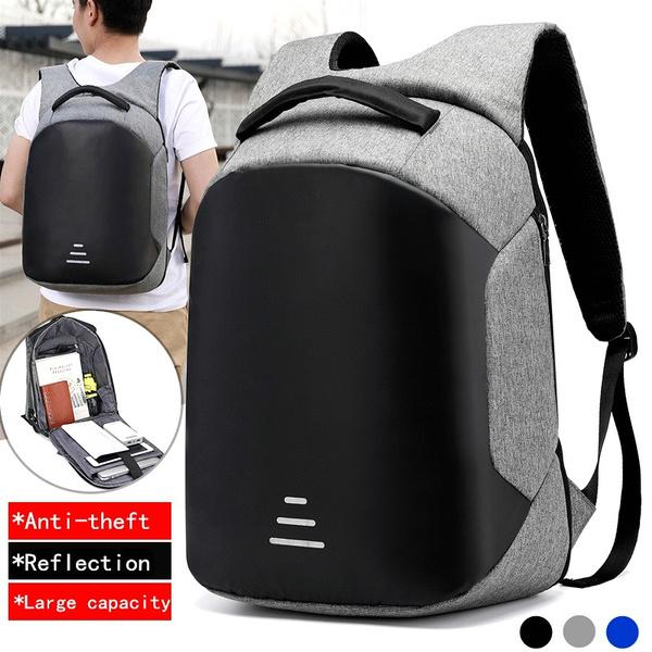 21946e3623b MEN Business USB Charge Anti Theft Backpacks Female Oxford Women Backpack  Bag 15 Inch Laptop Mochila Waterproof Travel Back Pack