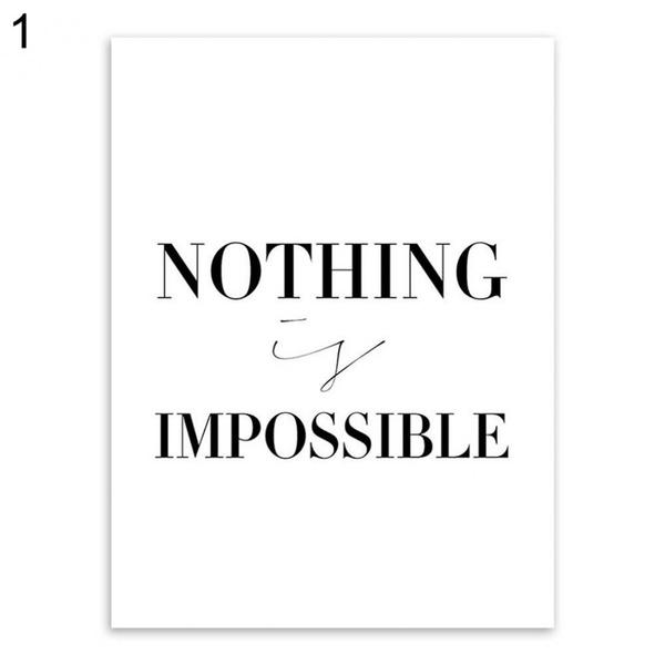Wish | Black Minimalist Motivational Typography Believe Quotes Art ...