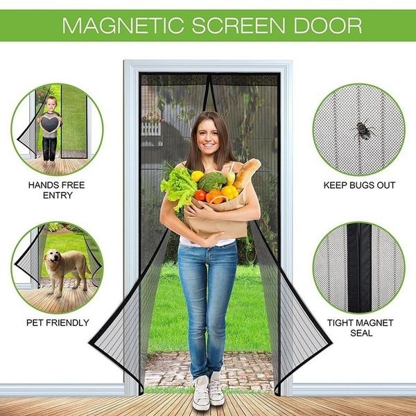 Wish Magnetic Screen Door Full Frame Velcro