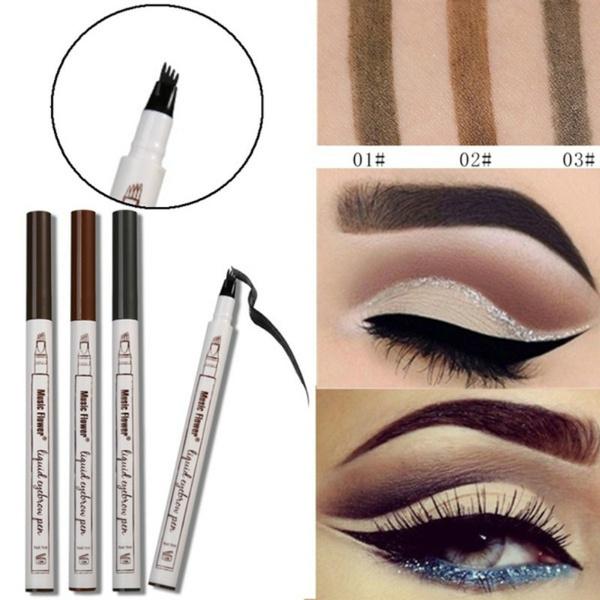 Wish Music Flower Eyebrow Pencil Waterproof Fork Tip Eyebrow