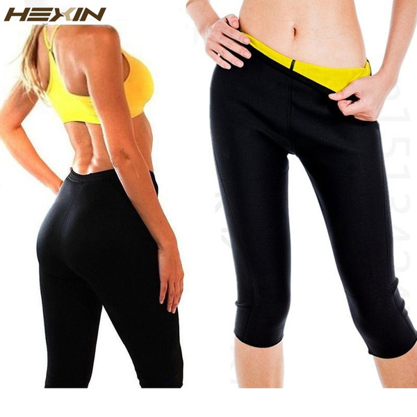 72212a0c49 HEXIN Womens Slimming Pants Hot Thermo Neoprene Sweat Sauna Body ...