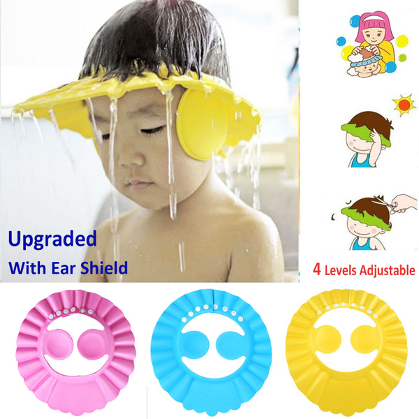 Adjustable Baby Shampoo Cap Safe Bathing Protection Bath Cap for Children Shower Cap Baby Toddler Kids Wash Hair Shield Hat